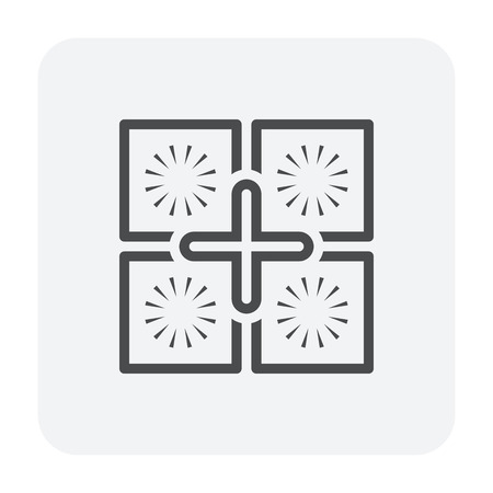 Tile floor installation and material icon. Illustration