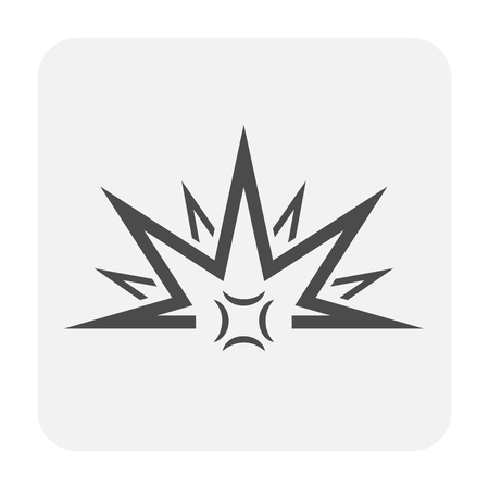 Explode icon design, black and outline.
