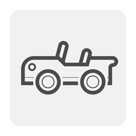 Sport car icon, black and outline.  イラスト・ベクター素材