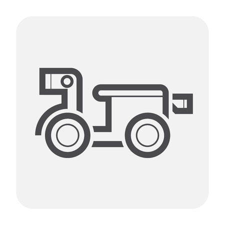 Motocycle icon design, black and outline.