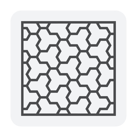 Concrete paver block floor icon, editable stroke. Stock Vector - 110358452