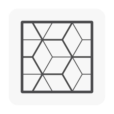 Wood floor pattern and material icon Векторная Иллюстрация