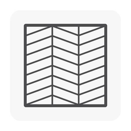 Modello di pavimento in legno e icona del materiale