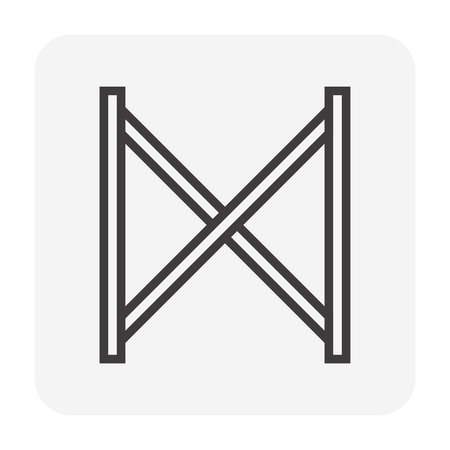 Scaffolding and accessory icon, 64x64 perfect pixel and editable stroke. Ilustração Vetorial