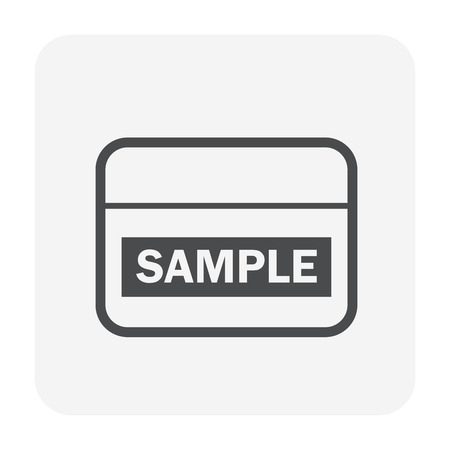 Soil testing and tool icon, black color. Vetores