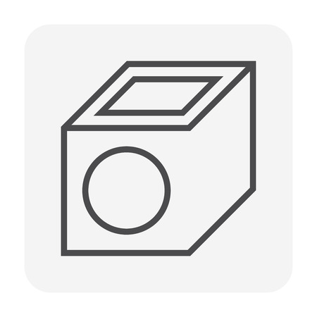 Sewer pipe icon, 64x64 perfect pixel and editable stroke.