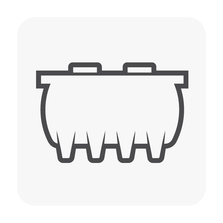 Septic tank icon design for water treatment work.
