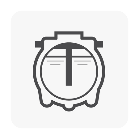 Septic tank icon for water treatment work.
