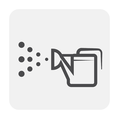Watering plant icon design, black and outlline.
