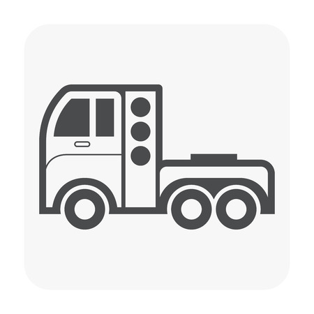 Natural gas for vehicle icon, black color.
