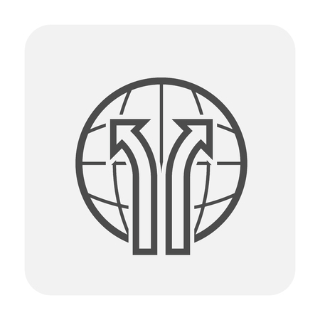 Shipping and delivery icon on white background.