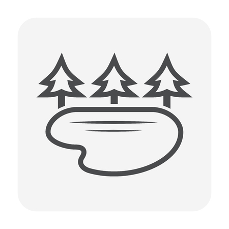 Water resource icon design, black color.