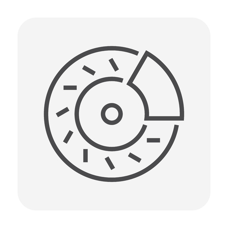 Bike part and equipment icon design, 64x64 perfect pixel and editable stroke.
