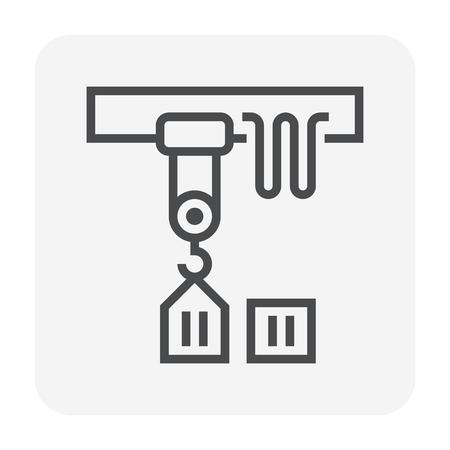 Ikona suwnicy, idealny piksel 64x64 i edytowalny skok.