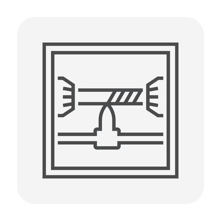 Cnc Fräsmaschine Icon Design, 80x80 perfekte Pixel und bearbeitbarer Hub.
