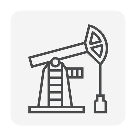 Oil pump icon design, editable stroke.