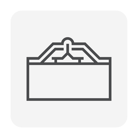 Roof tile and support icon design.