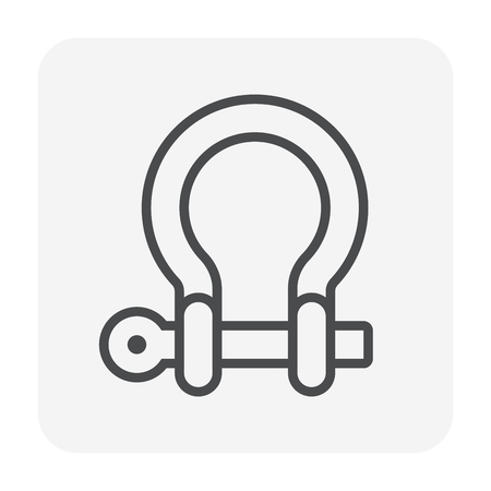 Shackle icon, 64x64 perfect pixel and editable stroke. Ilustracja