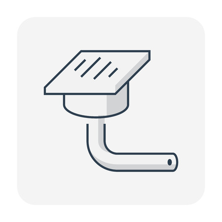 Floor drain or drainage equipment icon. Stock Illustratie