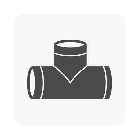 Air duct pipe icon for HVAC system. Illustration