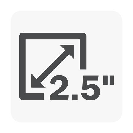 Resolution icon on white.