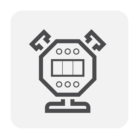 Bike part and equipment icon design, black and outline. Illustration