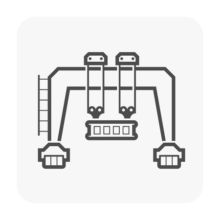 Gantry crane icon for industry work icon.