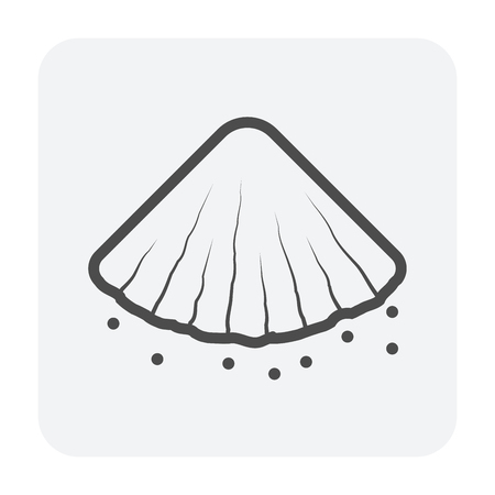 Soil icon design, black color. Иллюстрация