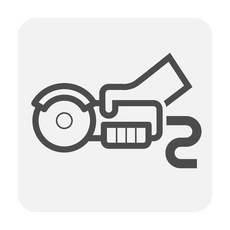Steel cutting tool icon for industry work.
