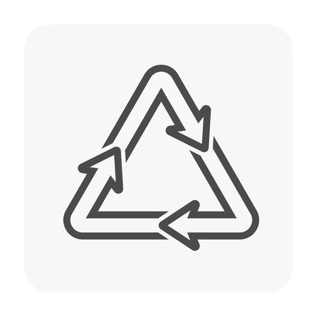 Recycle icon design, black color.