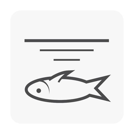 Icône des eaux usées et poisson mort.