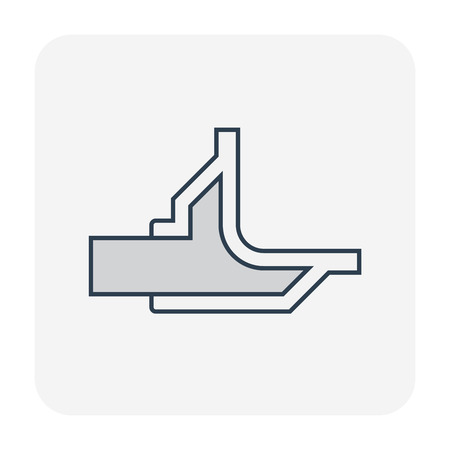 Floor drain or drainage equipment icon.