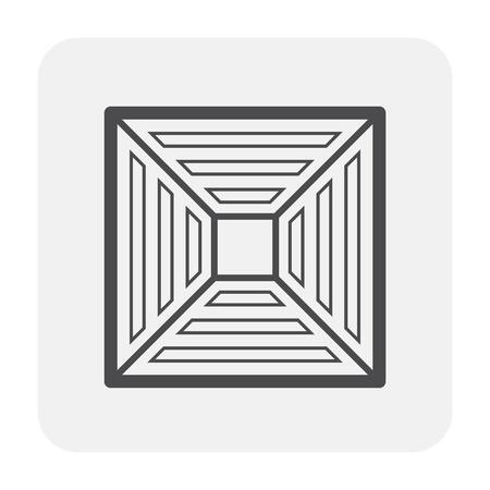 Air conditioner icon, black color. Vecteurs