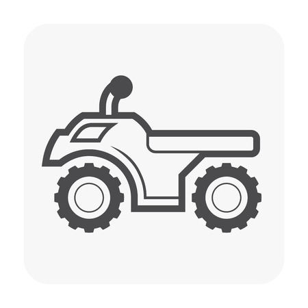 Vector icon design of off-road vehicle.