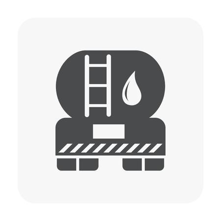 Oil truck icon on white