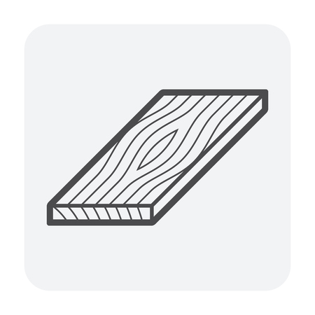 Wood floor material icon, black color. Ilustrace