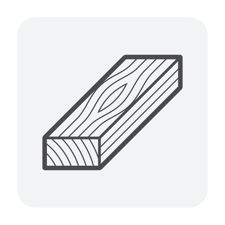 Wood floor material icon, black color. Ilustração