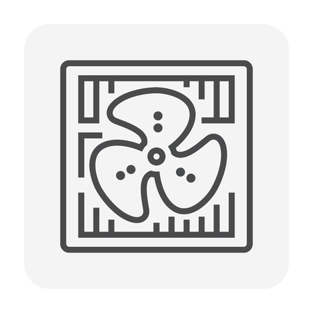 Air compressor icon, 64x64 perfect pixel and editable stroke.