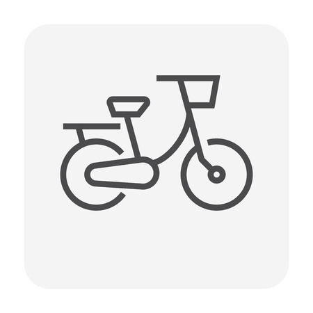 Bike or bicycle icon design, 64x64 perfect pixel and editable stroke.