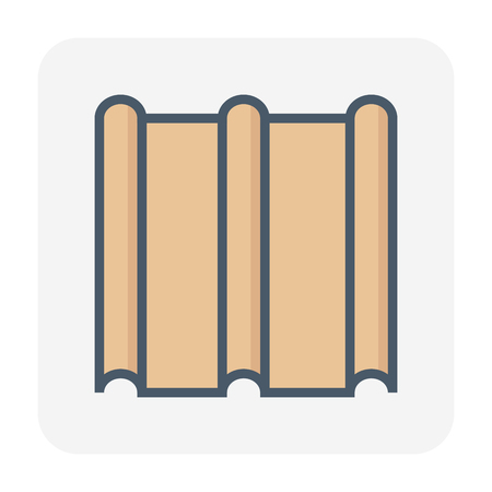 Roofing material icon design. Çizim