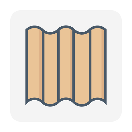 Roofing material icon design. Illustration