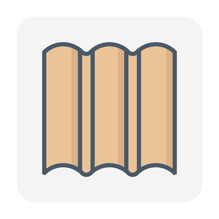 Roofing material icon design. Ilustrace