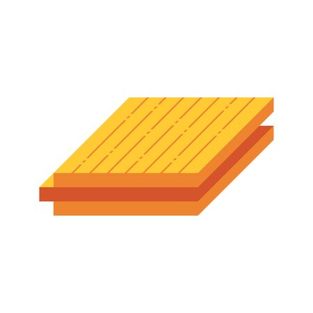 Wood floor material  icon design on white. 向量圖像