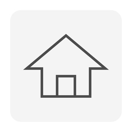 Real estate business icon design, 64x64 perfect pixel and editable stroke.