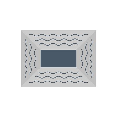 Symbol für den verschmutzten Zustand des Luftkanalrohrs. Vektorgrafik