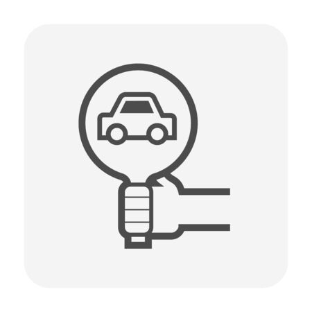 Used car and dealership icon for used car business design. Ilustracja