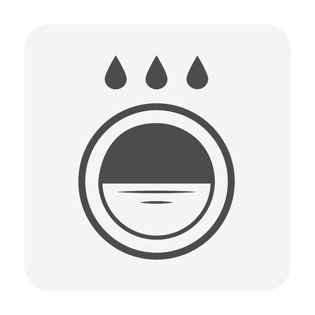 Garden drainage system and equipment icon set for landscaping work design. Иллюстрация