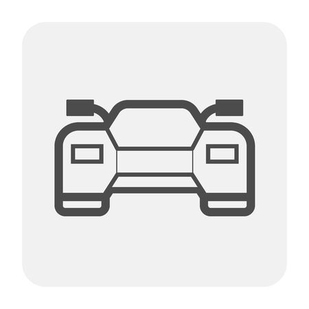Sport car icon, black and outline. Illusztráció