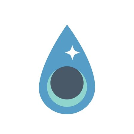 Water drop icon, black color. Archivio Fotografico - 133616554