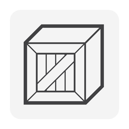 Cargo container and box icon for shipping and transportation work design.